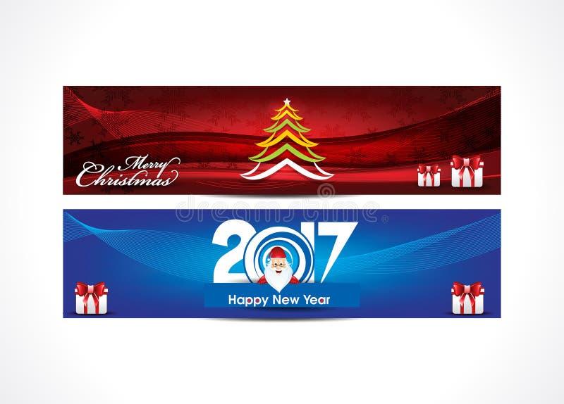 Αφηρημένο backgrou εμβλημάτων καλής χρονιάς και Ιστού Χαρούμενα Χριστούγεννας ελεύθερη απεικόνιση δικαιώματος