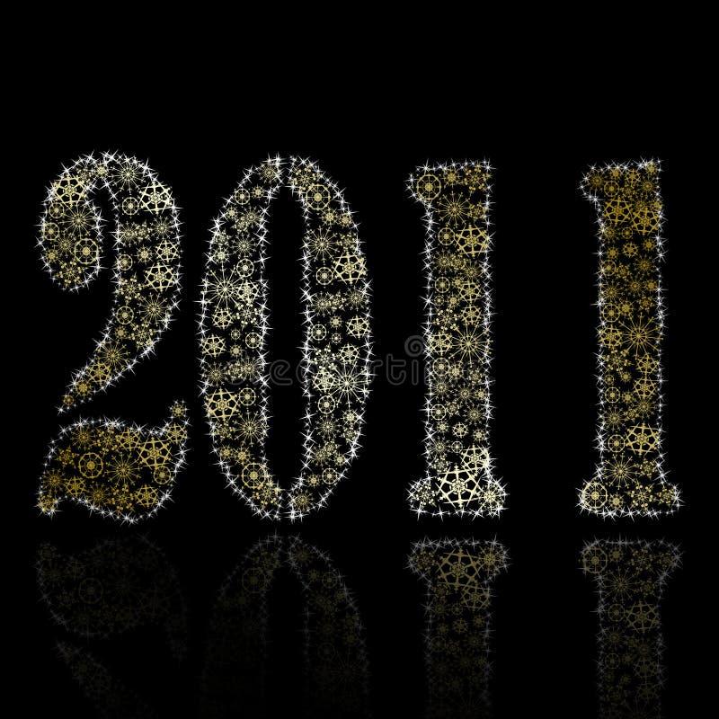 Download αφηρημένο Backround νέο έτος του 2011 Διανυσματική απεικόνιση - εικονογραφία από διακόσμηση, χρυσός: 17055281
