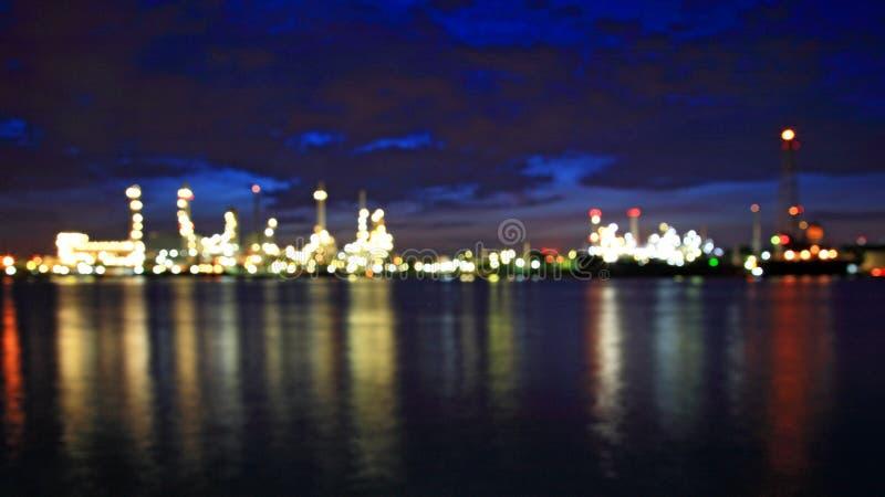 Αφηρημένο Bokeh του διυλιστηρίου πετρελαίου Bangchak στοκ εικόνες