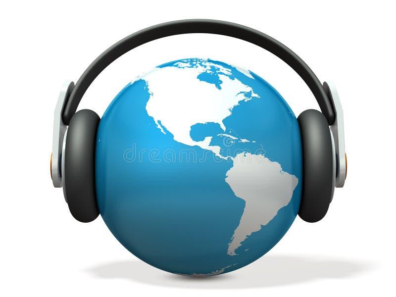 Αφηρημένο 3DCG αντιπροσωπεύοντας την παγκόσμια μουσική απεικόνιση αποθεμάτων