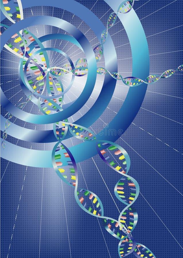 αφηρημένο DNA ανασκόπησης διανυσματική απεικόνιση