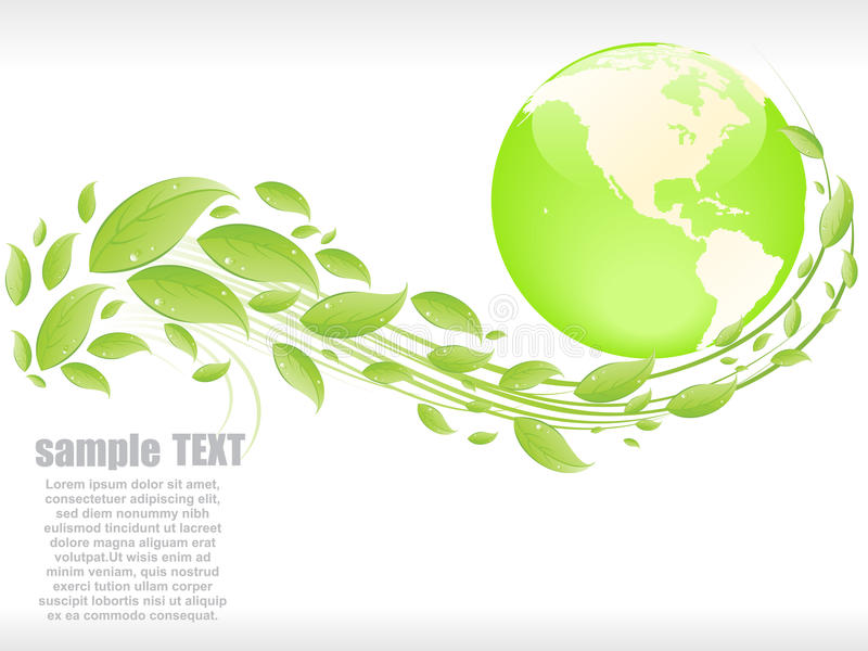 αφηρημένο eco ανασκόπησης διανυσματική απεικόνιση