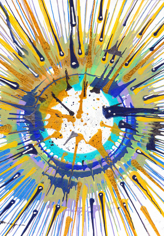 Αφηρημένο expressionism που χρωματίζει - ενέργεια διανυσματική απεικόνιση