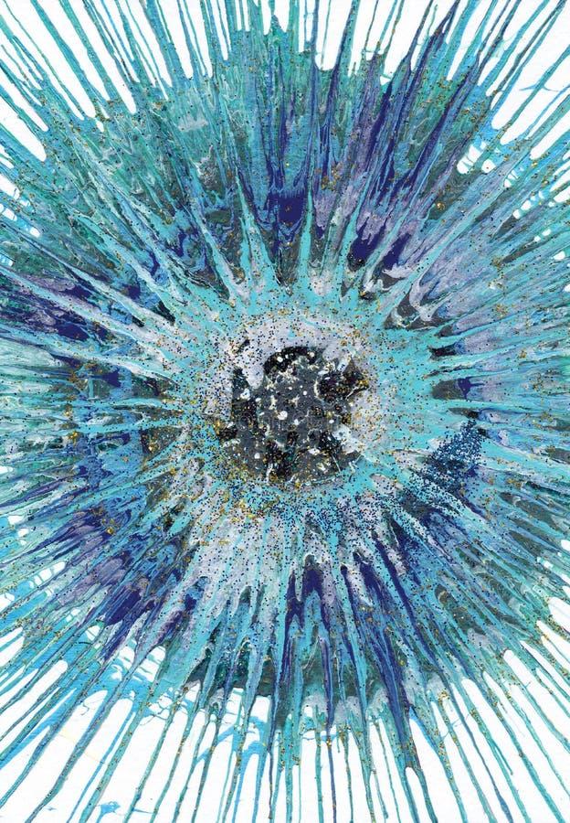Αφηρημένο expressionism που χρωματίζει - θαλάσσιο μαργαριτάρι διανυσματική απεικόνιση