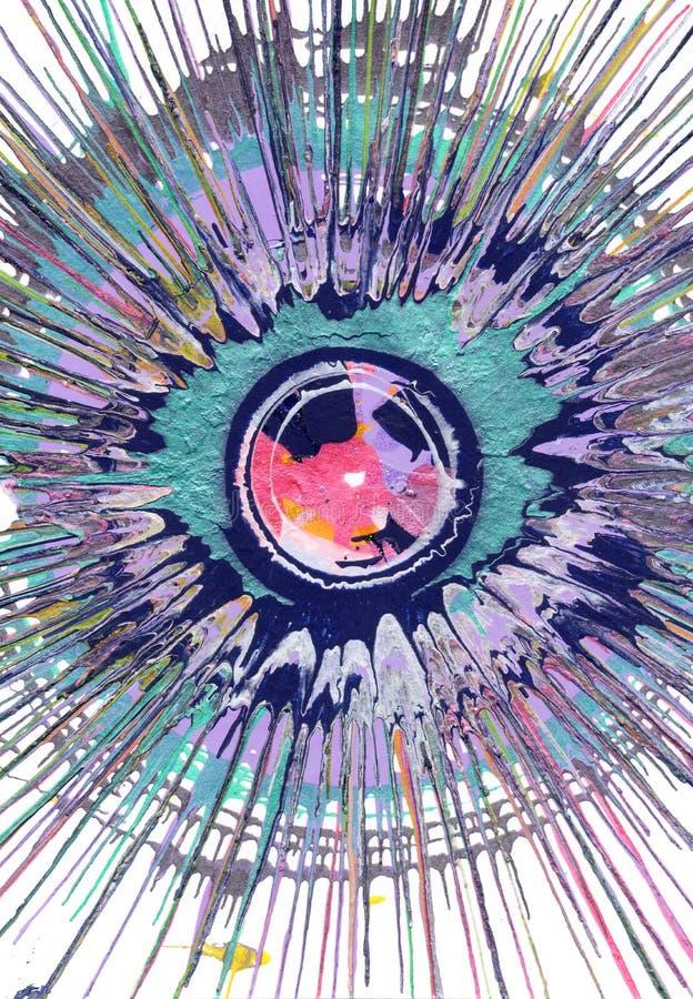 Αφηρημένο Expressionism που χρωματίζει - μαγικό μάτι ελεύθερη απεικόνιση δικαιώματος