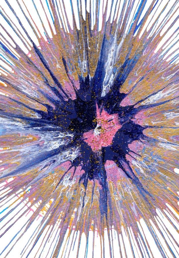 Αφηρημένο expressionism που χρωματίζει - πίτα βακκινίων διανυσματική απεικόνιση