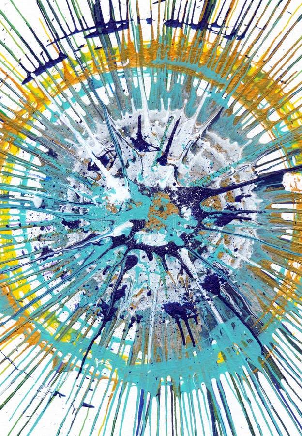 Αφηρημένο expressionism που χρωματίζει - φρέσκες πτώσεις ελεύθερη απεικόνιση δικαιώματος