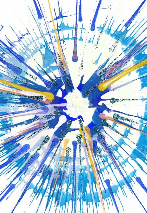 Αφηρημένο expressionism που χρωματίζει - φρέσκες πτώσεις διανυσματική απεικόνιση