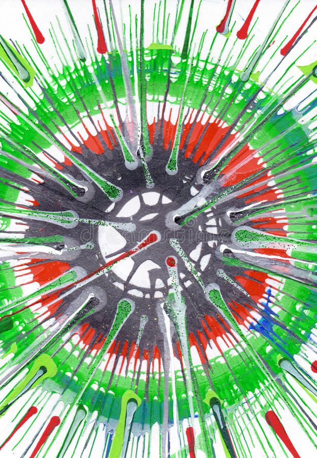 Αφηρημένο expressionism που χρωματίζει - φρέσκος πράσινος ελεύθερη απεικόνιση δικαιώματος