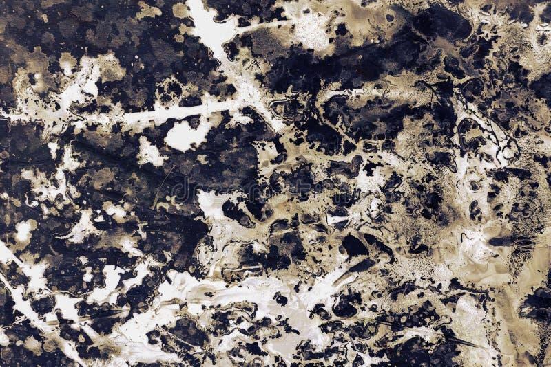 Αφηρημένο expressionism σχέδιο Ύφος της ζωγραφικής σταλαγματιάς Ο Μαύρος διανυσματική απεικόνιση