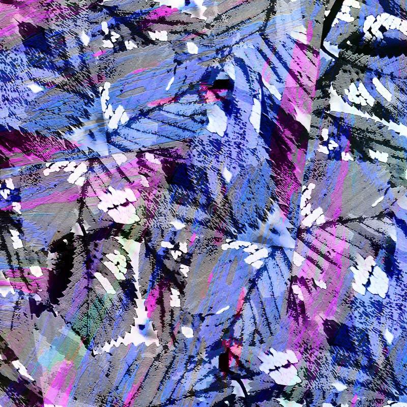 Αφηρημένο Expressionism υπόβαθρο κολάζ διανυσματική απεικόνιση