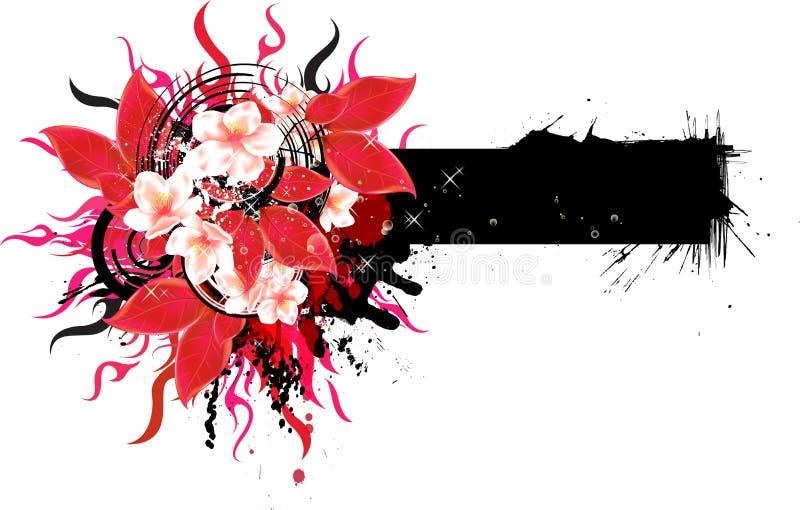 Αφηρημένο floral έμβλημα διανυσματική απεικόνιση