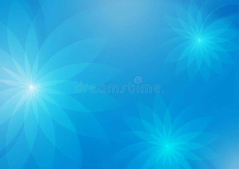 Αφηρημένο Floral ανοικτό μπλε υπόβαθρο για το σχέδιο ελεύθερη απεικόνιση δικαιώματος