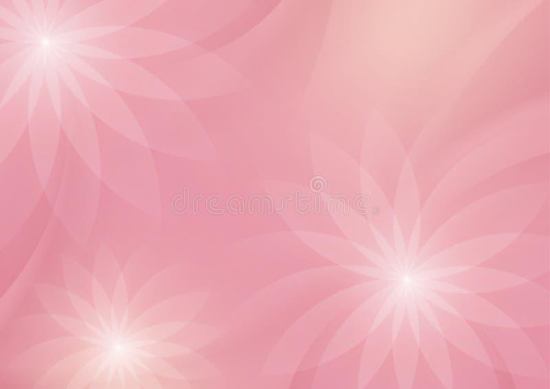 Αφηρημένο Floral ανοικτό ροζ υπόβαθρο για το σχέδιο διανυσματική απεικόνιση