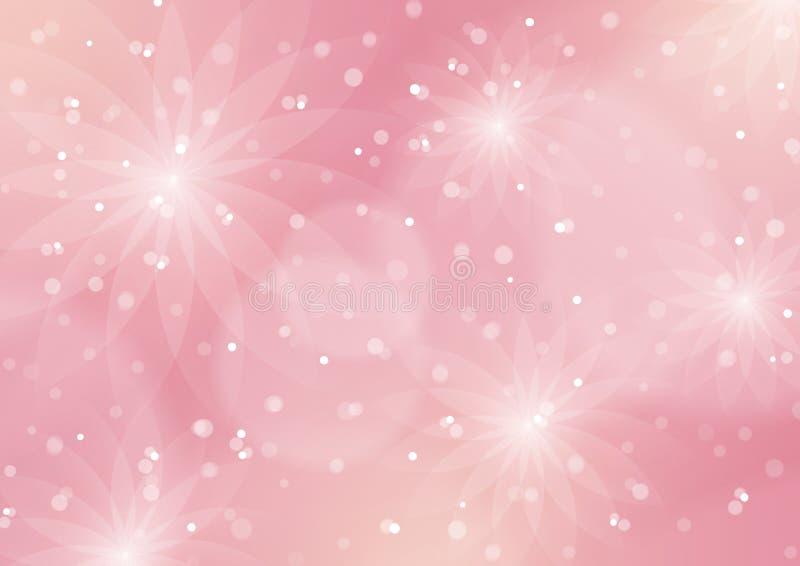 Αφηρημένο Floral ανοικτό ροζ υπόβαθρο ελεύθερη απεικόνιση δικαιώματος