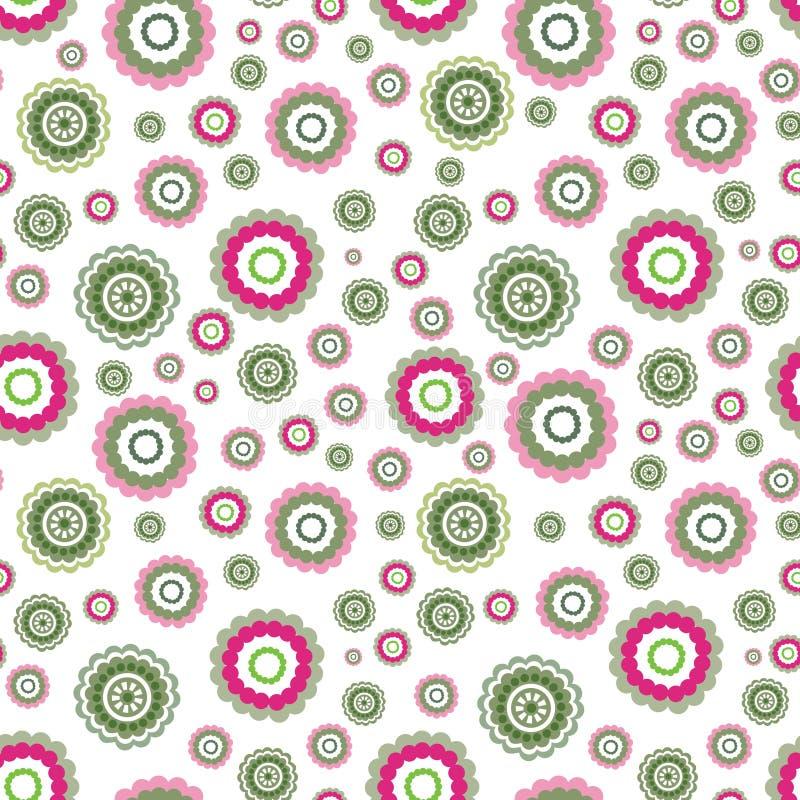 Αφηρημένο floral γεωμετρικό άνευ ραφής σχέδιο eps 8 κύκλων διάνυσμα διακοσμήσεων απεικόνισης ελεύθερη απεικόνιση δικαιώματος
