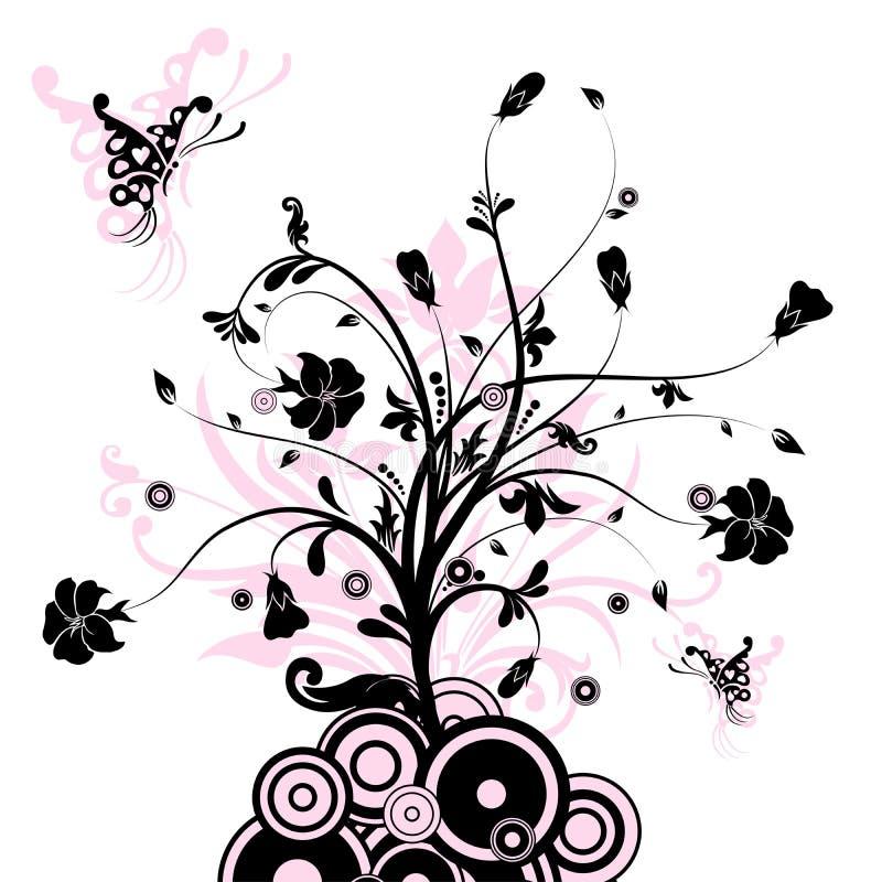 αφηρημένο floral διάνυσμα ανασ&kappa διανυσματική απεικόνιση