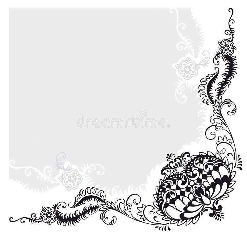 αφηρημένο floral διάνυσμα διακ&omi διανυσματική απεικόνιση