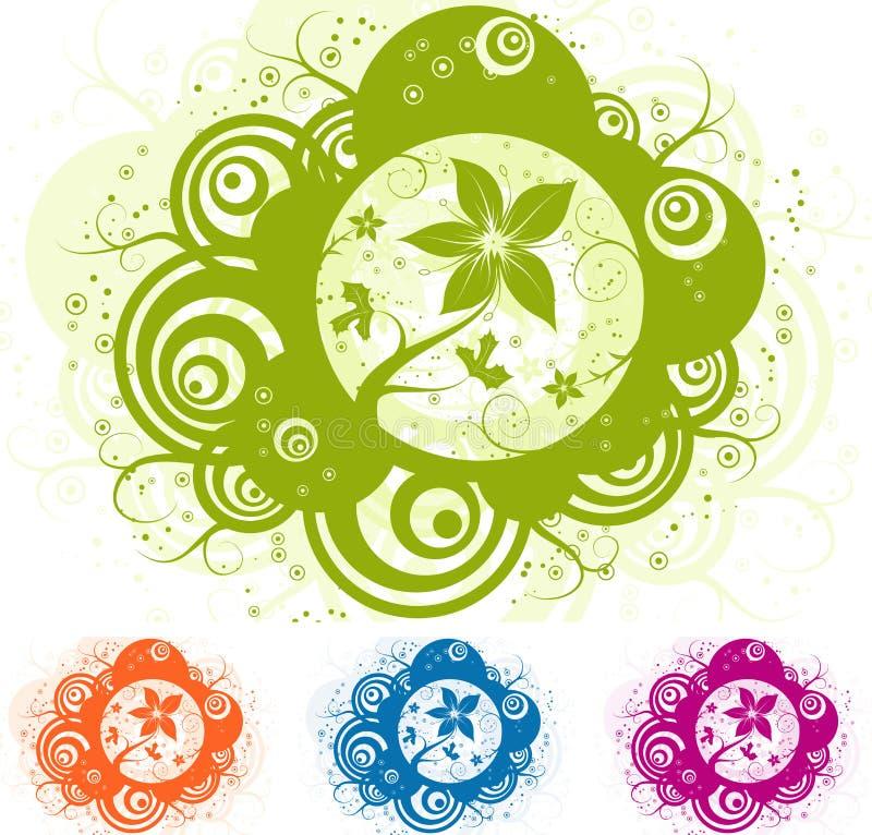 αφηρημένο floral διάνυσμα στοι&chi απεικόνιση αποθεμάτων