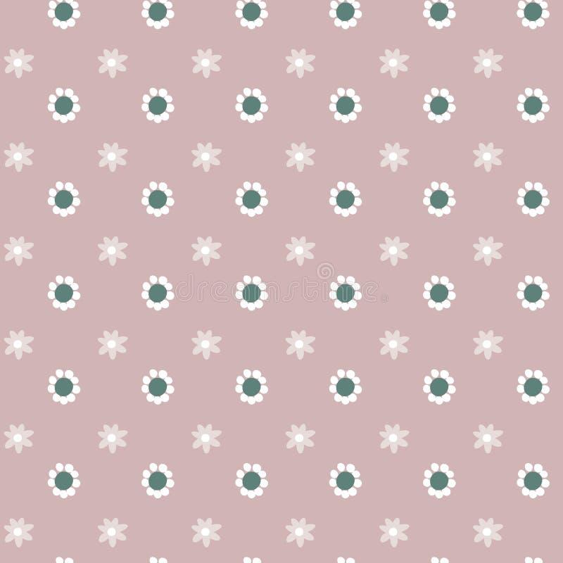 Αφηρημένο floral διανυσματικό άνευ ραφής σχέδιο, απλό υπόβαθρο χρώματος κρητιδογραφιών για το σχέδιό σας ελεύθερη απεικόνιση δικαιώματος