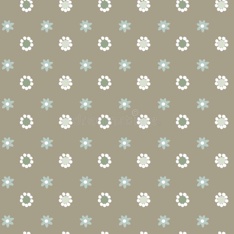 Αφηρημένο floral διανυσματικό άνευ ραφής σχέδιο, απλό υπόβαθρο χρώματος κρητιδογραφιών για το σχέδιό σας διανυσματική απεικόνιση