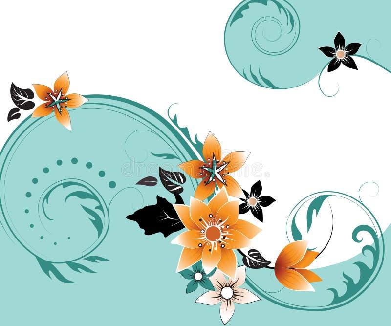 αφηρημένο floral ελεύθερου χώ&rho απεικόνιση αποθεμάτων