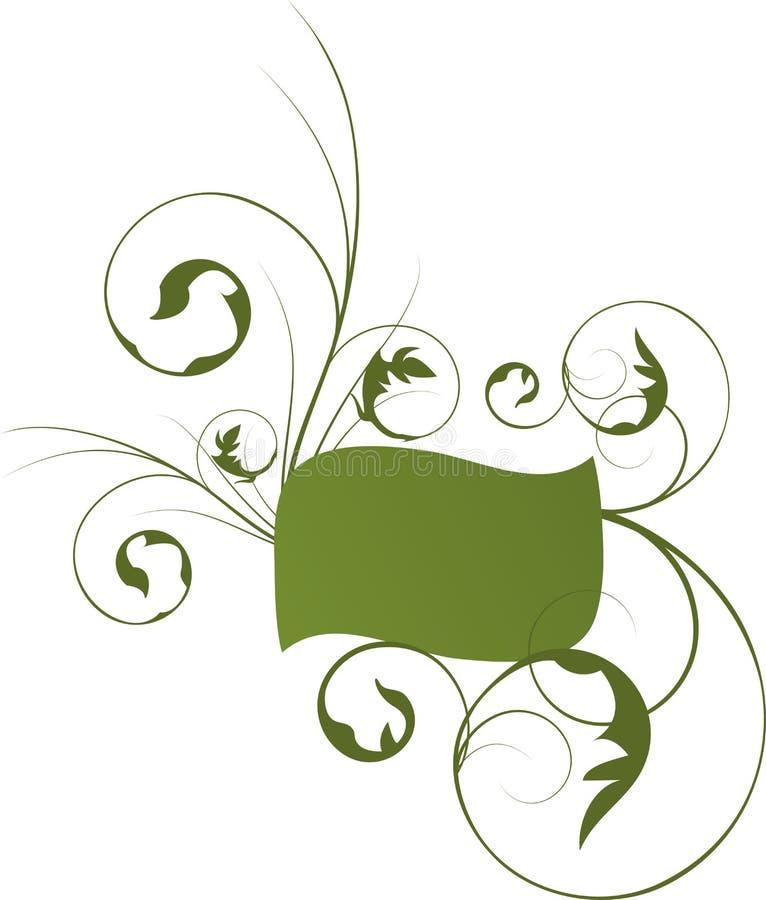 αφηρημένο floral πλαίσιο απεικόνιση αποθεμάτων