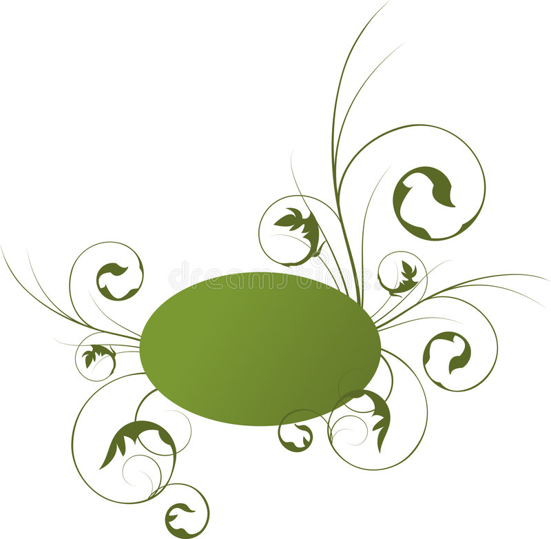 αφηρημένο floral πλαίσιο διανυσματική απεικόνιση