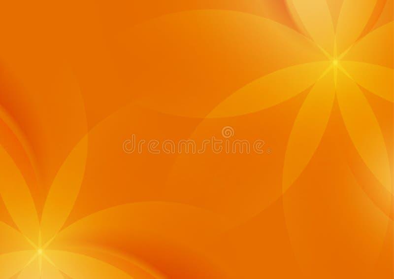 Αφηρημένο Floral πορτοκαλί υπόβαθρο για το σχέδιο απεικόνιση αποθεμάτων