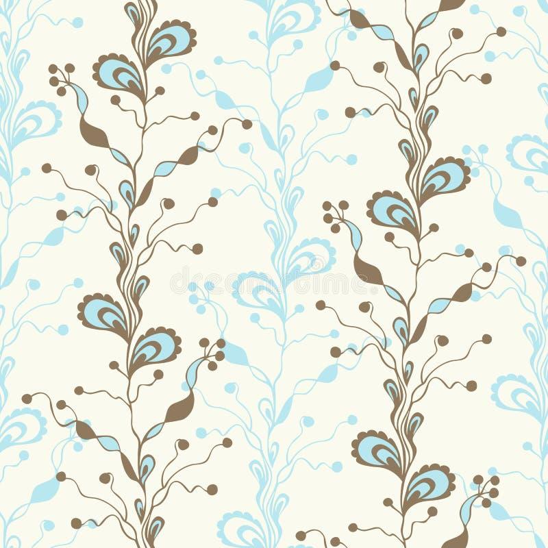 αφηρημένο floral πρότυπο άνευ ρα&p Ύφος Doodle Υφαντικό σχέδιο μόδας διανυσματική απεικόνιση