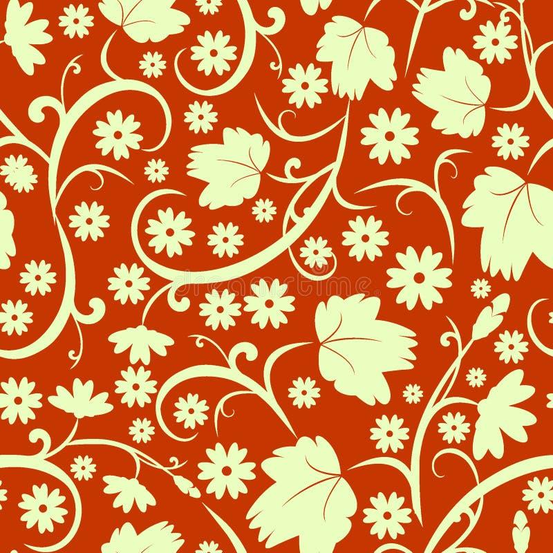 αφηρημένο floral πρότυπο άνευ ρα&ph στοκ φωτογραφία με δικαίωμα ελεύθερης χρήσης