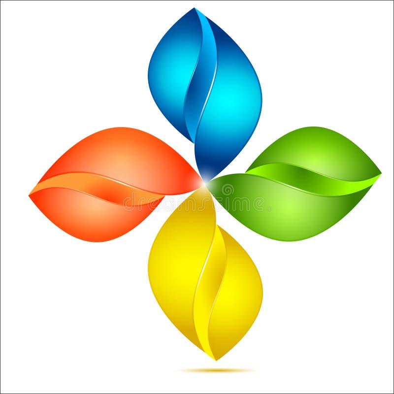 Αφηρημένο Floral σημάδι απεικόνιση αποθεμάτων