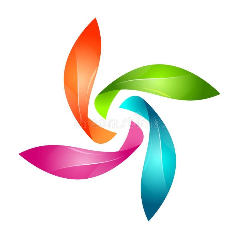 Αφηρημένο Floral σημάδι διανυσματική απεικόνιση