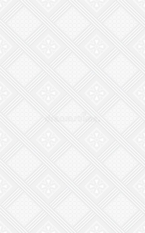 Αφηρημένο Floral τρισδιάστατο άνευ ραφής σχέδιο 04 απεικόνιση αποθεμάτων