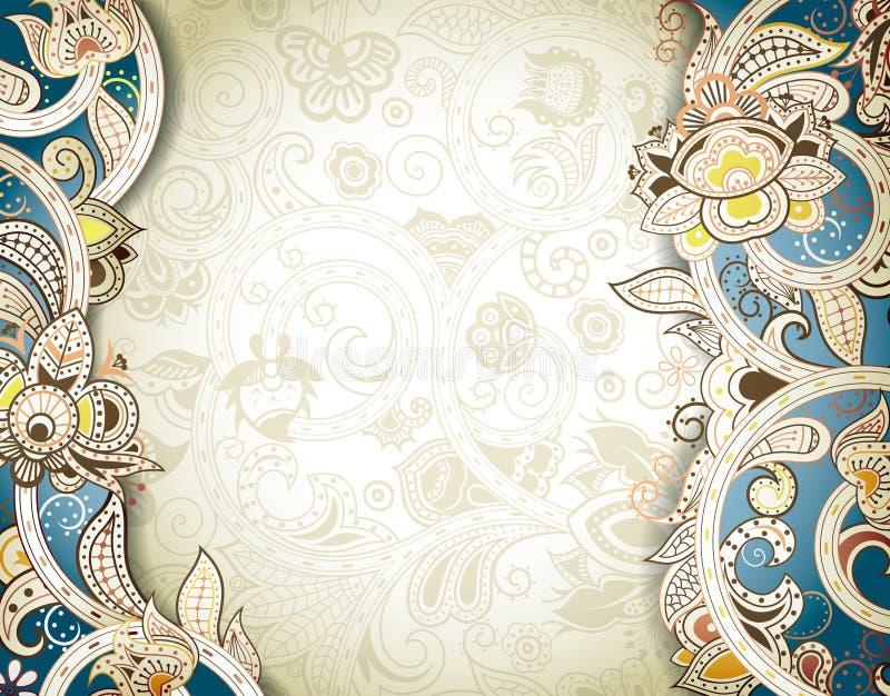 Αφηρημένο Floral υπόβαθρο πλαισίων απεικόνιση αποθεμάτων