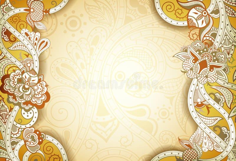 Αφηρημένο Floral υπόβαθρο πλαισίων διανυσματική απεικόνιση