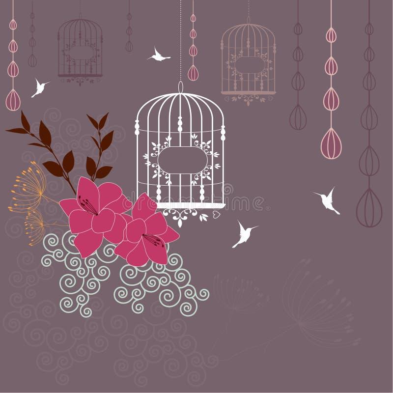 Αφηρημένο floral υπόβαθρο ελεύθερη απεικόνιση δικαιώματος
