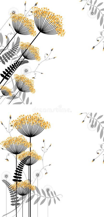 αφηρημένο floral φυτό στοιχείων &a απεικόνιση αποθεμάτων