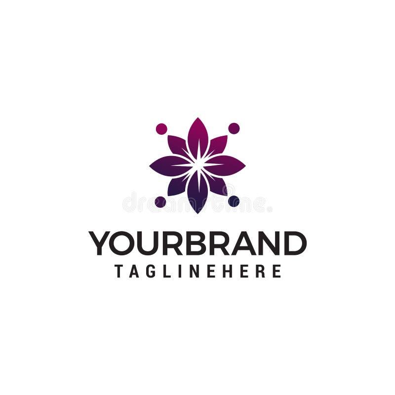 Αφηρημένο flower spa καλλυντικό πρότυπο έννοιας σχεδίου λογότυπων απεικόνιση αποθεμάτων