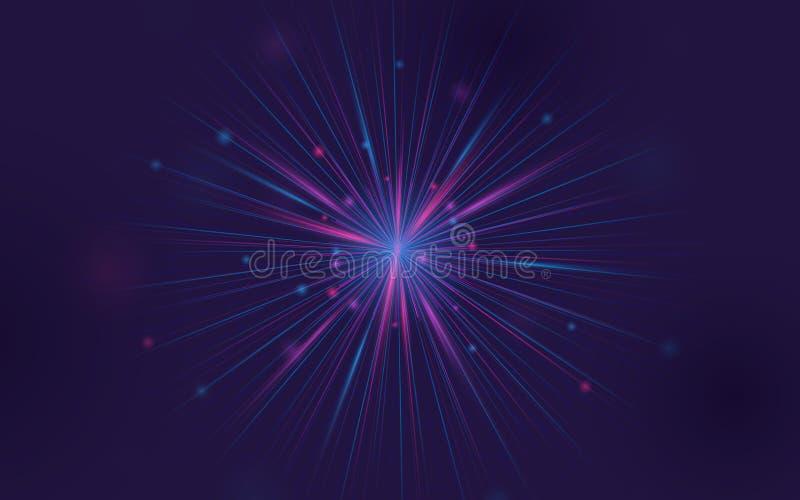 Αφηρημένο fractal στοιχείο Μεγάλη σύνδεση στοιχείων r ελεύθερη απεικόνιση δικαιώματος