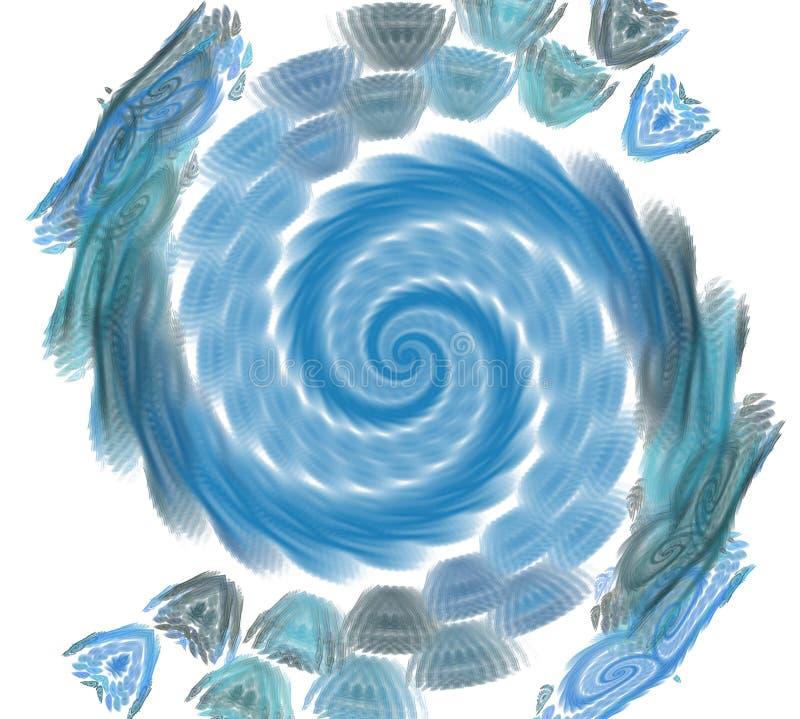 Αφηρημένο fractal στοιχείο στην περιστροφική κίνηση για το σχέδιό σας απεικόνιση αποθεμάτων
