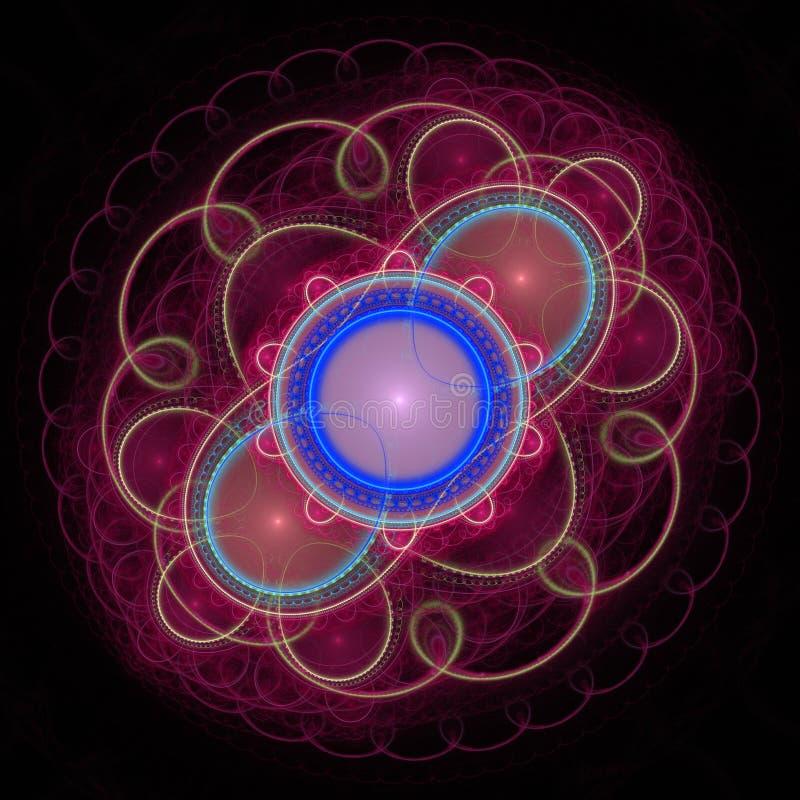 Αφηρημένο fractal φωτισμού vawes απεικόνιση αποθεμάτων