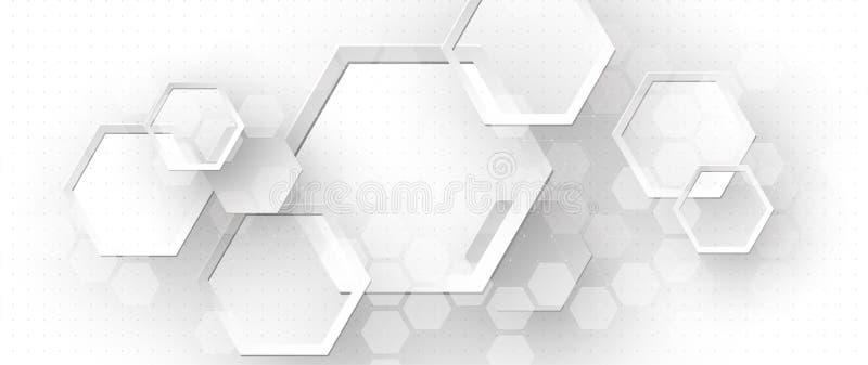 Αφηρημένο hexagon υπόβαθρο Σχέδιο poligonal τεχνολογίας Ψηφιακός φουτουριστικός μινιμαλισμός ελεύθερη απεικόνιση δικαιώματος