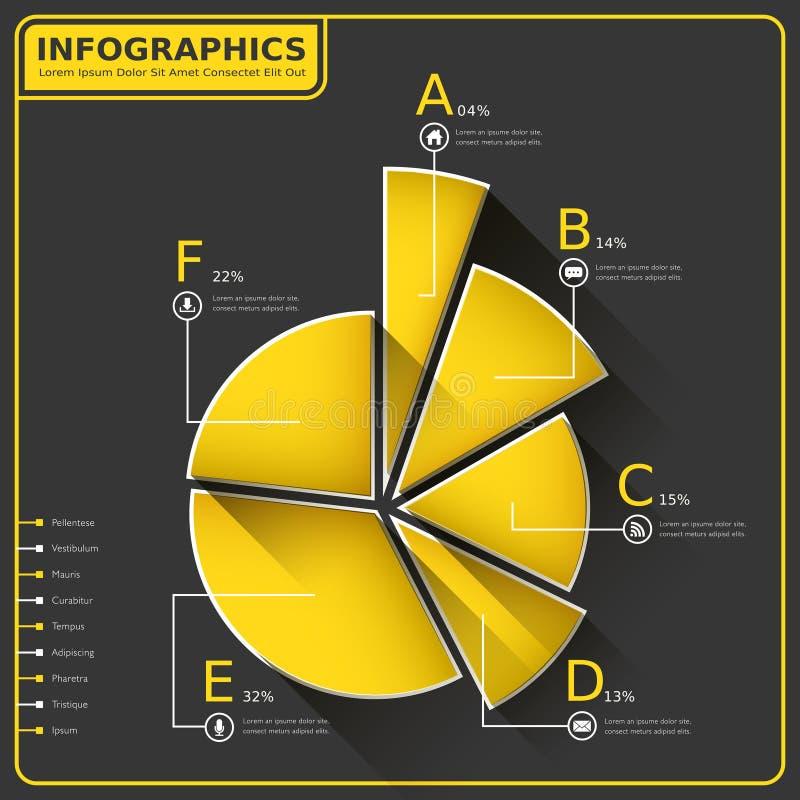 Αφηρημένο infographics διαγραμμάτων πιτών ελεύθερη απεικόνιση δικαιώματος