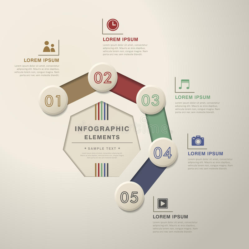 Αφηρημένο infographics διαγραμμάτων ροής απεικόνιση αποθεμάτων