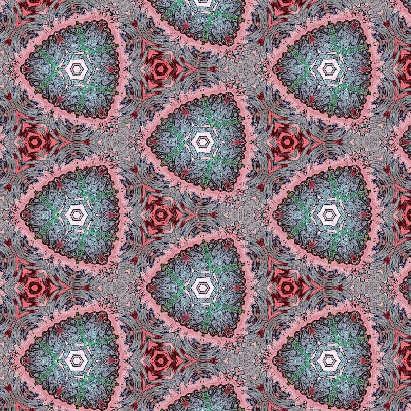 Αφηρημένο kaleidoscopic υπόβαθρο ως άπειρο συνεχές σχέδιο στοκ εικόνα