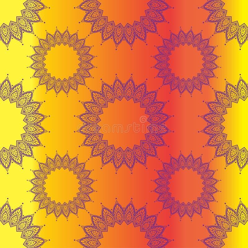 Αφηρημένο mandala χρώματος σχεδίων doodle ελεύθερη απεικόνιση δικαιώματος