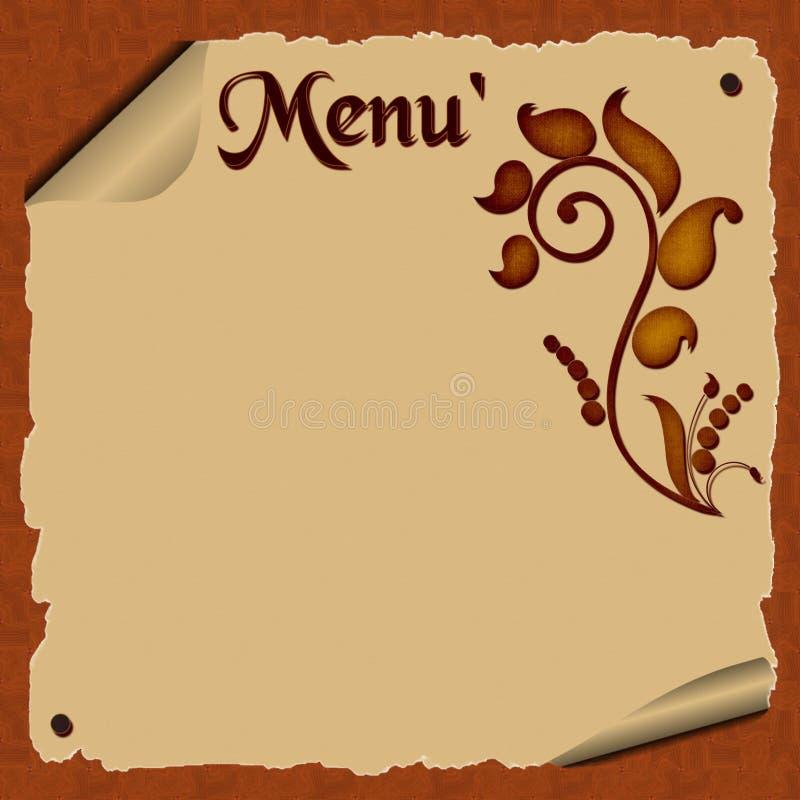 Αφηρημένο menù διανυσματική απεικόνιση