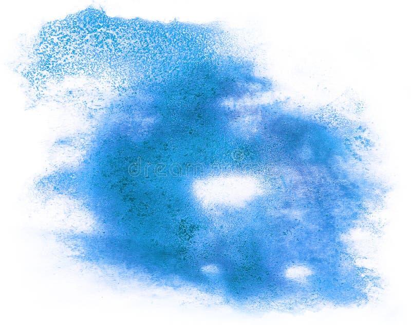 Αφηρημένο pai παφλασμών υδατοχρώματος βουρτσών watercolor μπλε μελανιού κτυπήματος στοκ εικόνες