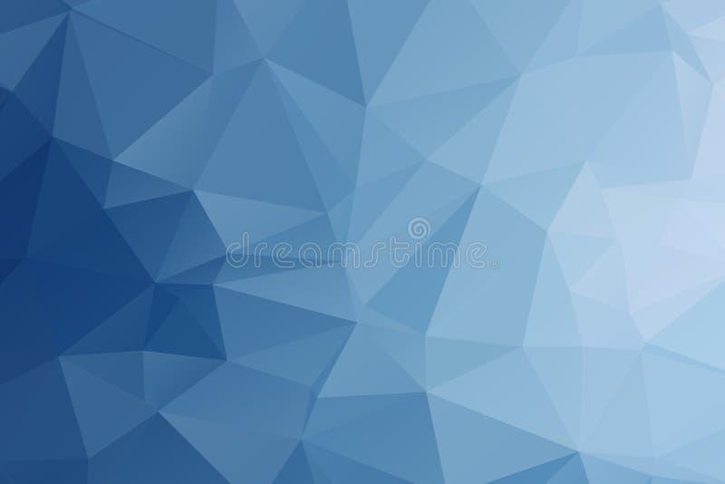 Αφηρημένο Polygonal μπλε υπόβαθρο χρώματος απεικόνιση αποθεμάτων